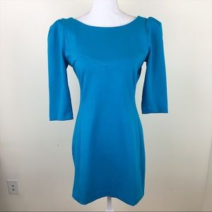 Tibi Blue Bodycon Mini Dress
